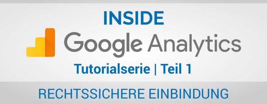 Google Analytics rechtssicher einbinden - Beitragsbild Banner